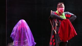 MOSCOW, RUSSIA - SEPTEMBER 12, 2015: Сlown Show. Festival of clown art Clownfest in Sokolniki Park