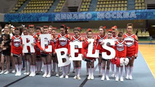 Rewarding cheerleading teams. Moscow Open Cup Cheerleading 2016.