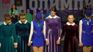 The Judge announces the winner of the dance Olympiad. XIII World Dance Olympiad 2016 in Moscow.