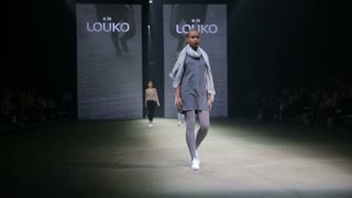 HELSINKI, FINLAND - OCTOBER 20, 2017: Fashion Show a la Louko Kengat Vagabond during Fair I LOVE ME - Beauty, Health, Naturally, Fashion and Jewel&Watch at Messukeskus Expo Centre
