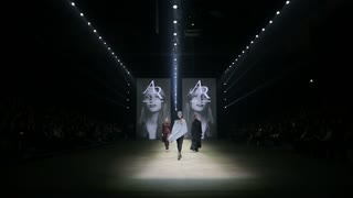 HELSINKI, FINLAND - OCTOBER 20, 2017: Fashion Show Fashion Show Anna Ruohonen during Fair I LOVE ME - Beauty, Health, Naturally, Fashion and Jewel&Watch at Messukeskus Expo Centre