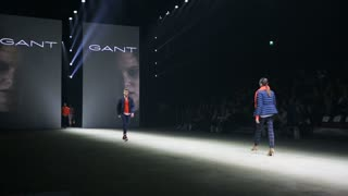 HELSINKI, FINLAND - OCTOBER 20, 2017: Fashion Show GANT during Fair I LOVE ME - Beauty, Health, Naturally, Fashion and Jewel&Watch at Messukeskus Expo Centre