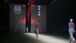 HELSINKI, FINLAND - OCTOBER 20, 2017: Fashion Show LEATHER JEWELLERY & ACCESSORIES VIAMINNET during Fair I LOVE ME - Beauty, Health, Naturally, Fashion and Jewel&Watch at Messukeskus Expo Centre