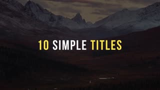 10 Simple Titles