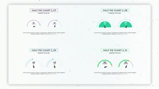Infographics: Half Simple Pie Charts Creator