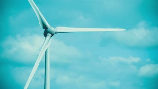 Wind Turbine. Direct Shot of a Wind Turbine. Generating Clean, Green Electricity