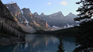 Evening light on Moraine Lake, Banff National Park, Alberta, Canada