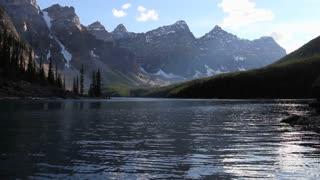 Low angle on Moraine Lake, Banff National Park, Alberta, Canada