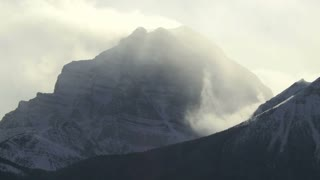 Mount Temple in the Rocky Mountains, time lapse, Banff, Alberta, Canada