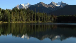 Mountains and alpine lake, Canadian Rockies