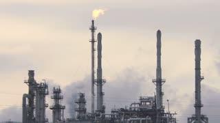 Oil Refinery Smokestack Flares 4