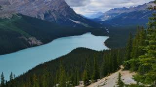 Peyto Lake in Banff National Park, Alberta, Canada, 4k