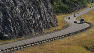 Recreational Vehicle on Highway