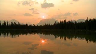 Sunset on Buller Lake, time lapse, Alberta, Canada