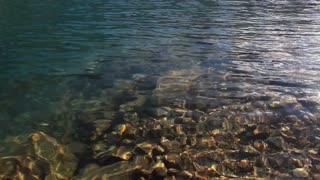 Tilt up on Moraine Lake, Banff, Alberta