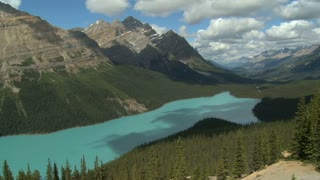 Time lapse of cloud shadows over Peyto Lake, Banff, Alberta, Canada