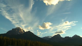 Time lapse of clouds over Mount Temple in the Canadian Rockies