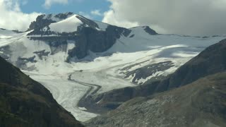 Time lapse of clouds passing over Peyto Glacier, Banff National Park, Alberta, Canada