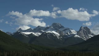 Time lapse of clouds passing over the Mount Lougheed group 3, Alberta, Canada