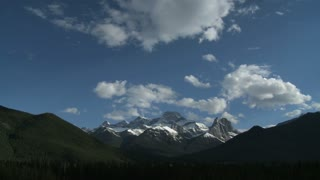 Time lapse of clouds passing over the Mount Lougheed group, Alberta, Canada