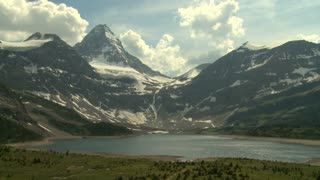 Time lapse of Mount Assiniboine and Lake Magog in the Canadian Rockies