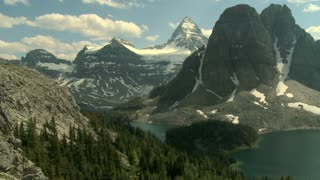 Time lapse of the Mount Assiniboine area and Lakes, Canadian Rockies