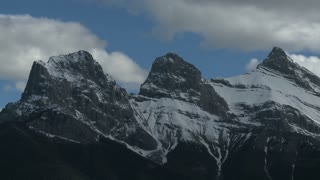 Time Lapse of The Three Sisters mountain group, Canadian Rockies 2