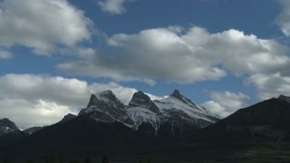 Time Lapse of The Three Sisters mountain group, Canadian Rockies