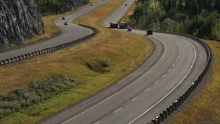 Trucks on the transcanada highway 2