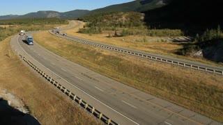 Trucks on the Transcanada Highway 3