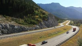 Trucks on the Transcanada Highway
