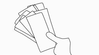 hand holding money Sketch illustration hand drawn animation transparent