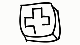 Plus medical symbol sketch illustration hand drawn animation transparent