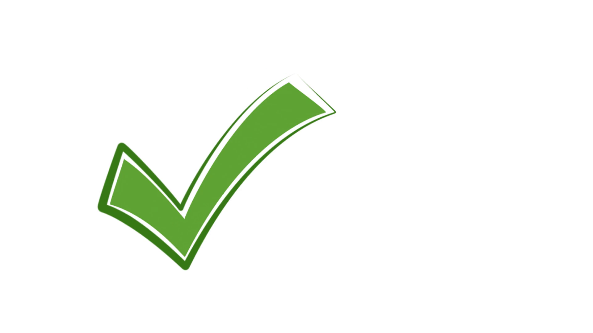 right Check Mark green for video or presentation Motion ... on ✔  id=90137