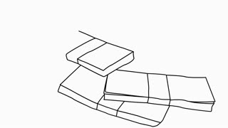 stacks of money Sketch illustration hand drawn animation transparent