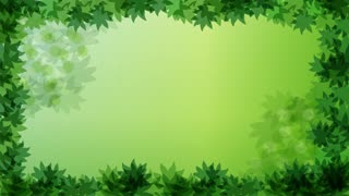 Falling Autumn Green Leaves Video Motion Graphics Animation Background Loop HD