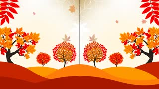 Falling Autumn Leaves Video Motion Graphics Animation Background Loop HD