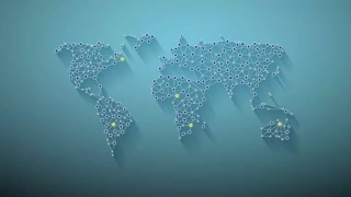 Global Network World Map Animation Video Motion Graphics Animation Background Lo