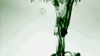 Green Ink Dropped Into Water Slow Motion Video Background Loop HDGreen Ink Motion Graphics Animation