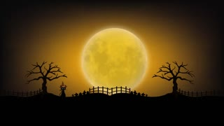 Halloween Haunted Spooky Video Motion Graphics Animation Background Loop HD
