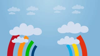 Rainbow Sky Animation Video Motion Graphics Animation Background Loop HD
