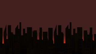 Rising Sun Building Time Lapse Animation Motion Graphics Background Loop HD