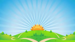 Sunshine Scenery Video Motion Graphics Animation Background Loop HD