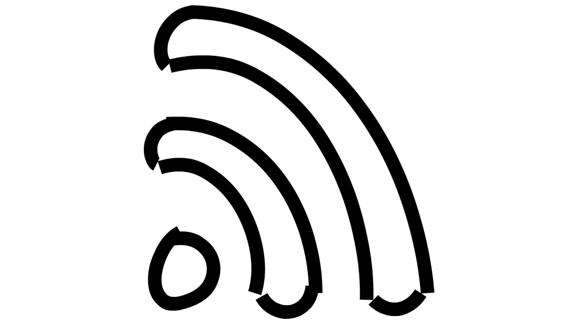 Wifi Signal Line Drawing Illustration Animation With Transparent Background Motion Background Storyblocks