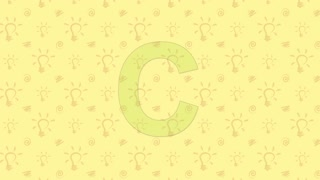Chameleon. English ZOO Alphabet - letter C
