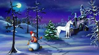 Christmas Fantasy with Magic Unicorn