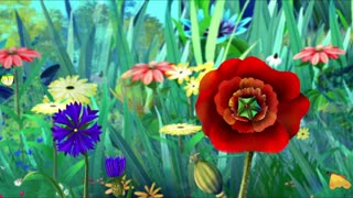 Flowers and Butterflies.Handmade Animation