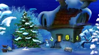 Magic Christmas Night. New Year scene
