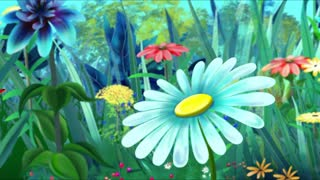 Red  Butterfly Flew on a Flower. Handmade Animation