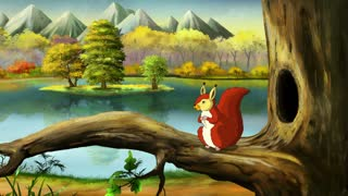 Red Squirell in a Forest